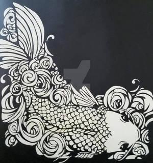 Koi in Black and White