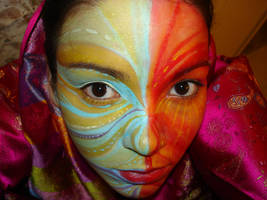 painted face 5 by AravisStock