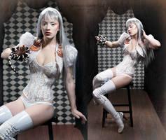 The Albino Snakecharmer by silvergrey