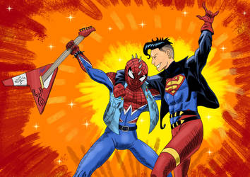 Superboy and Spider-Punk : The Rebellious Heroes by Metrosaurus
