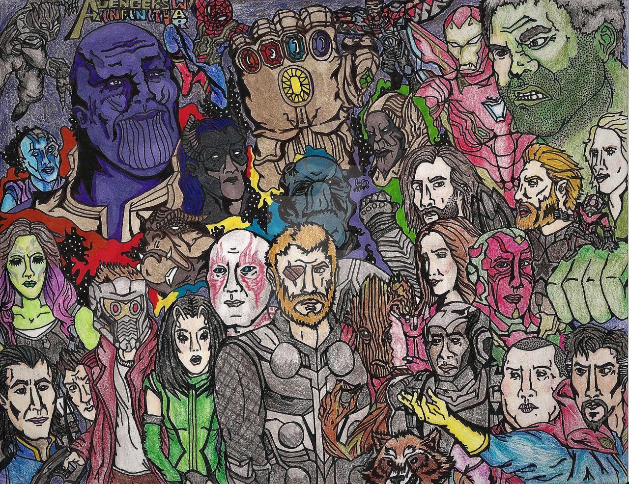 avengers infinity war lineup - jessiqvalentinejessiqvalentine on