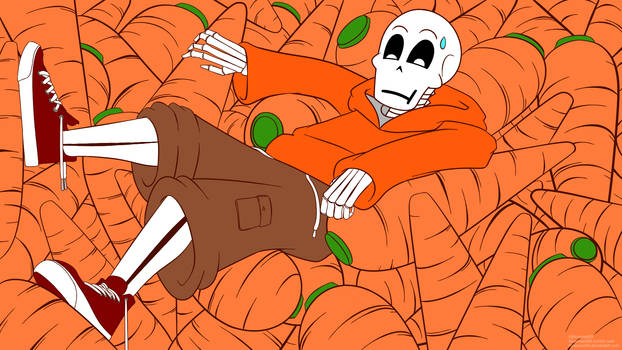 UnderSwap Papyrus in Carrots Pair Poster