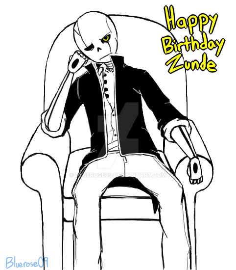 Grumpy Birthday boy Zunde by Bluerose09