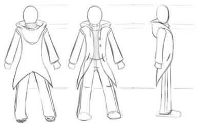 Asterisk costume reference sheet sketch