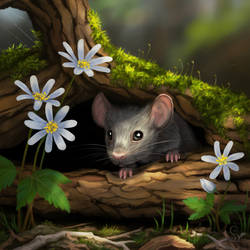 Spring Mouse by love--or--death