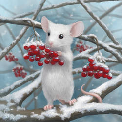 Winter Mouse by love--or--death