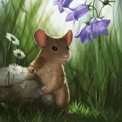 Bellflower Mouse by love--or--death
