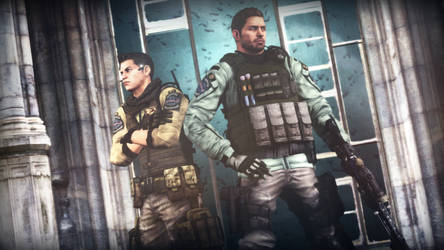 Piers Nivans and Chris Redfield