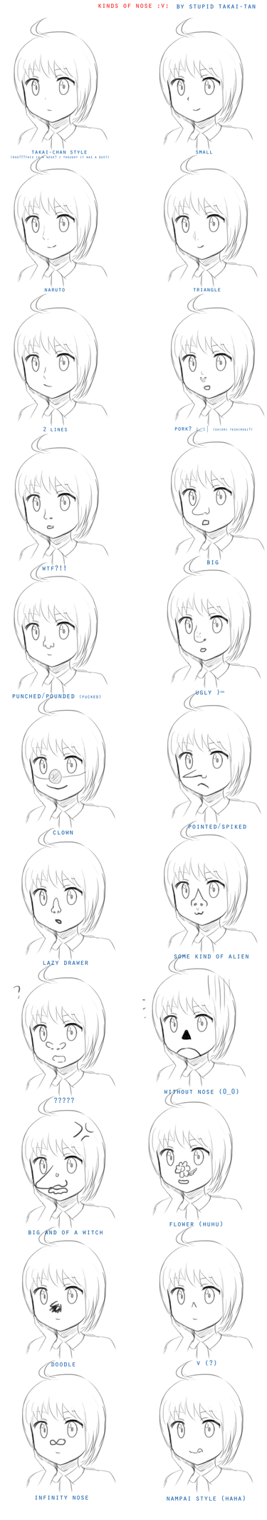 kinds of nose -the importance of the nose by hyuugalanna