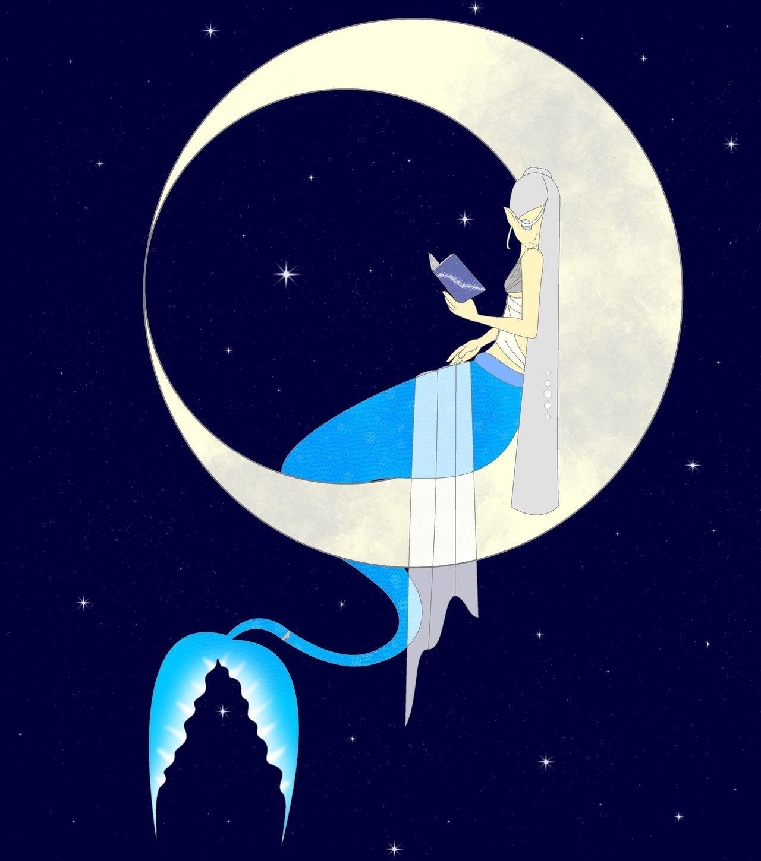 Mermay 2019 day 7 Moon by idontevencareyet on DeviantArt