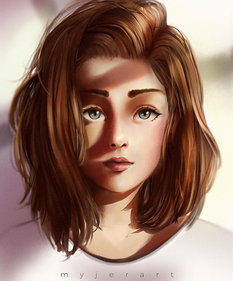 Brown Haired Girl By Myjerart On Deviantart