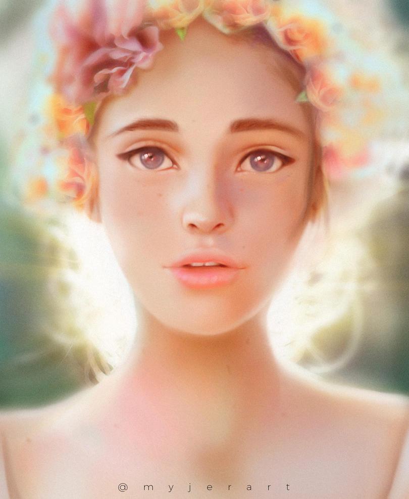 Flower girl by myjerart