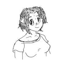 Tried to draw Natsuki