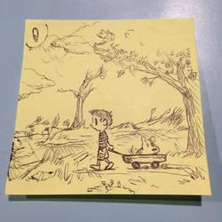 Just a sticky note doodle by ryokenohkie