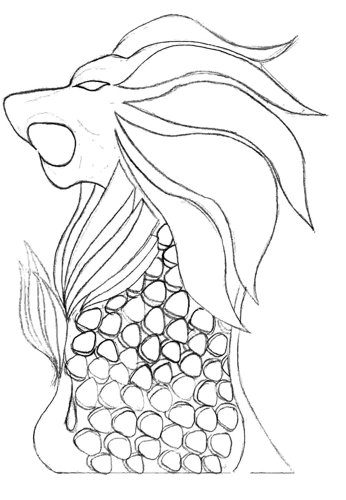 Merlion Picture Colouring Pages Sketch Coloring Page