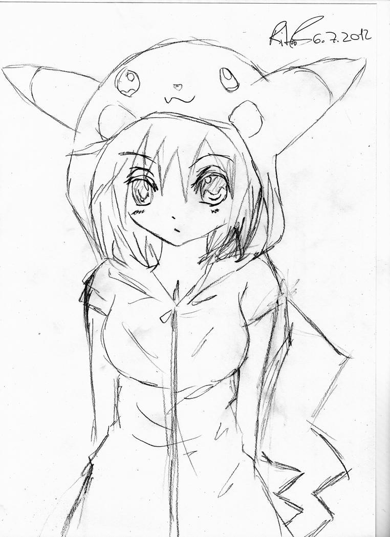 Pikachu Girl by sakuraahimoto on DeviantArt