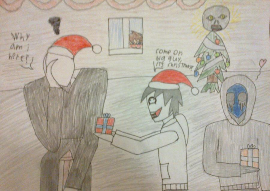 Christmas with Creepypasta by DarkZekrom5