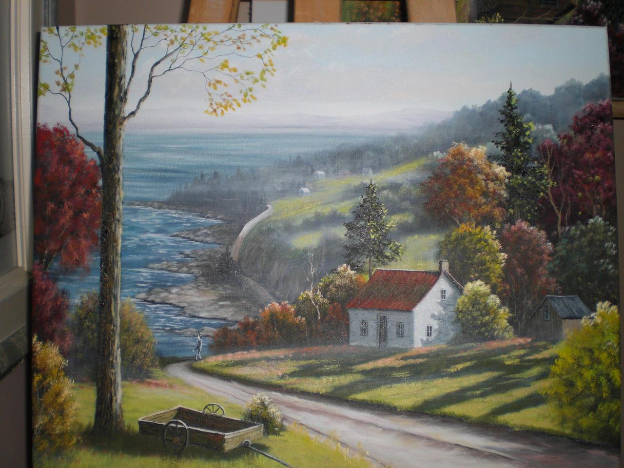 La maison sur la colline by peintre pierrot on deviantart for Maison sur colline