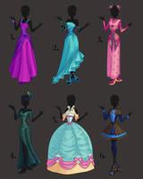 Misc. Dress Design Adoptables 1 by PrettieAngel