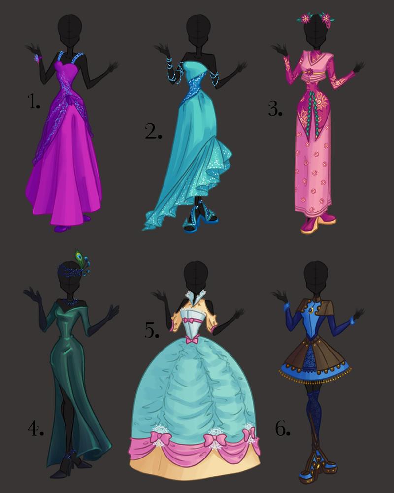 Misc. Dress Design Adoptables 1 By PrettieAngel On DeviantArt