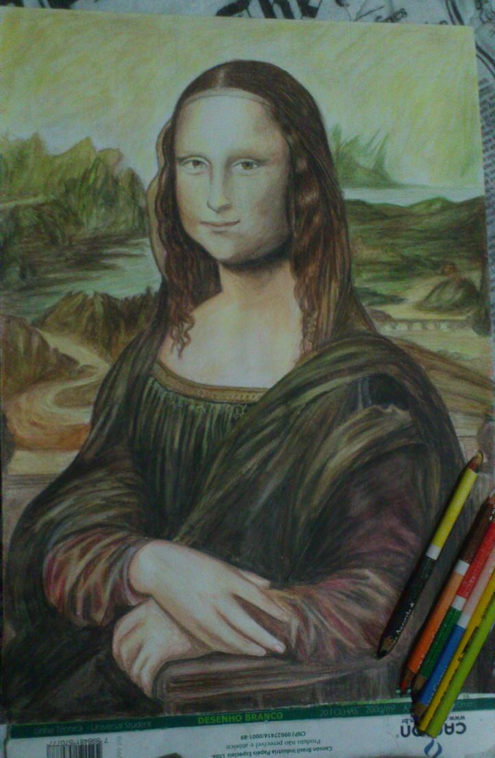 Monalisa watercolor pencil by wgacton
