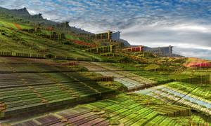 Pythagorean gardens and village