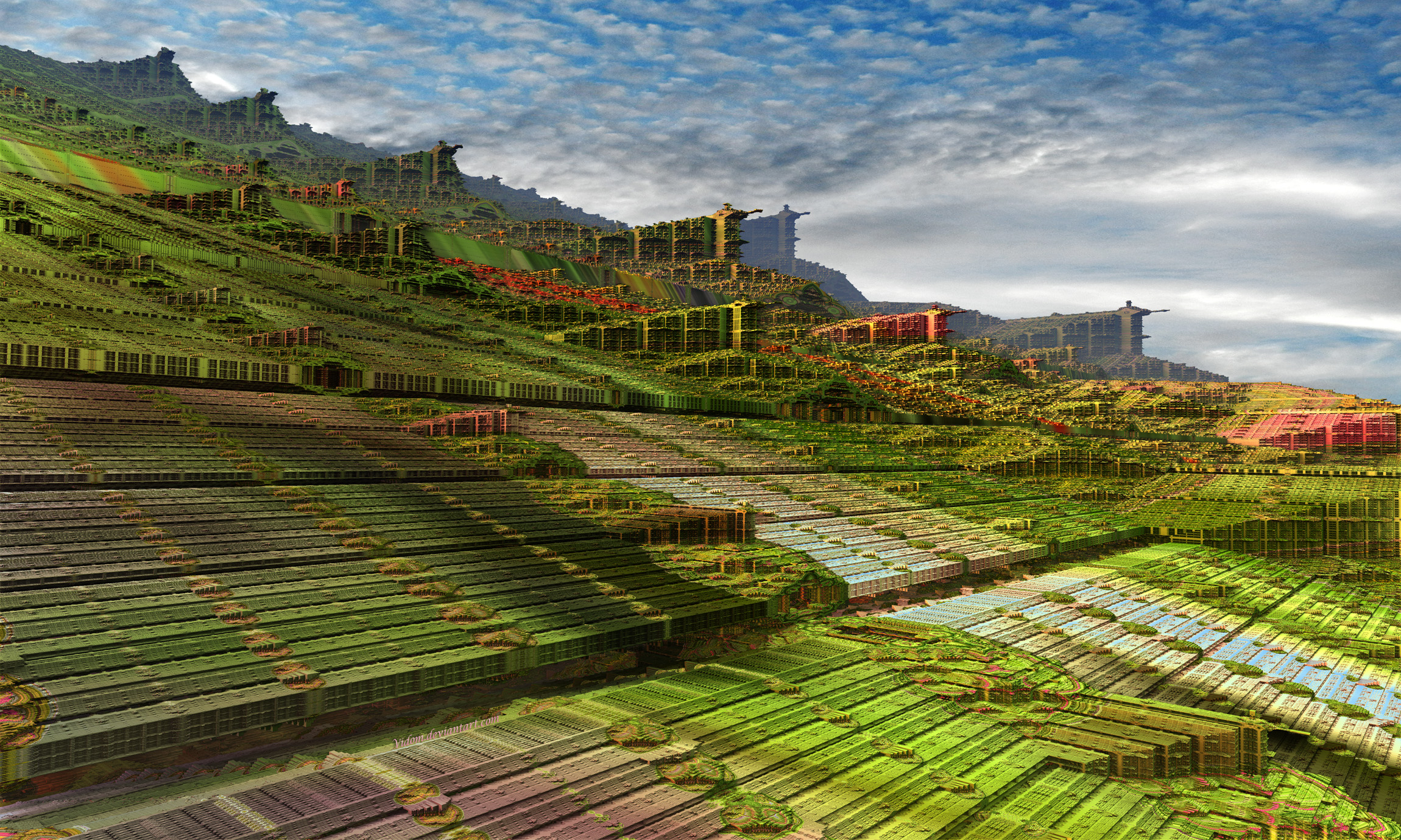 Pythagorean gardens and village by Vidom