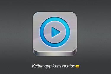 Metal - Retina app icons creator by frameartdesign
