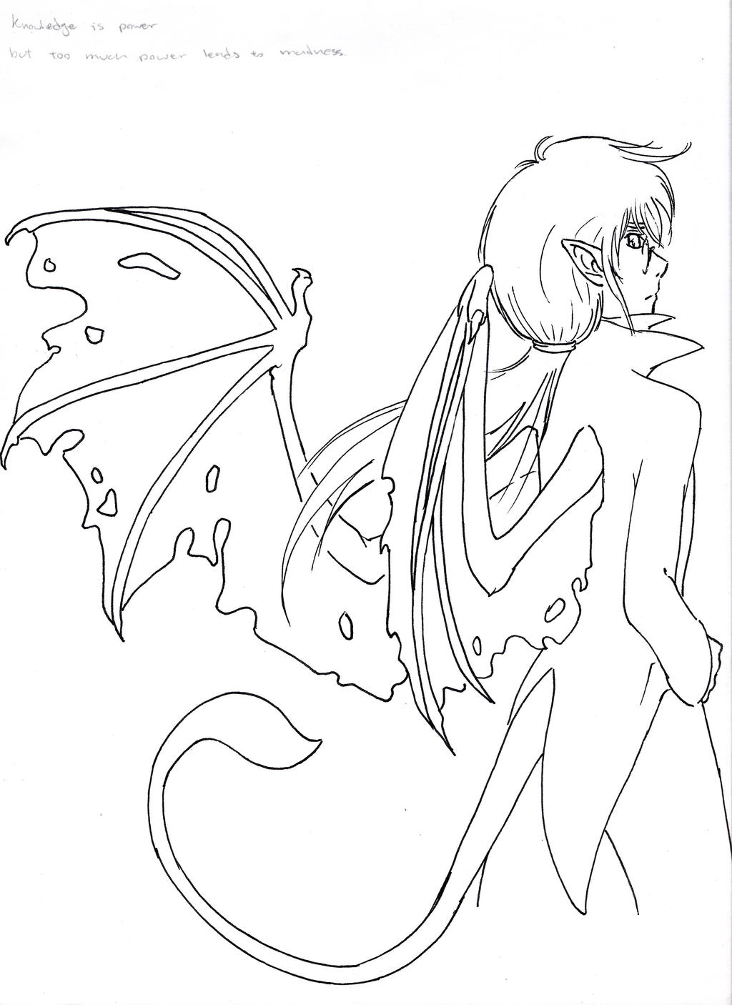 demon dragon coloring pages - photo#27