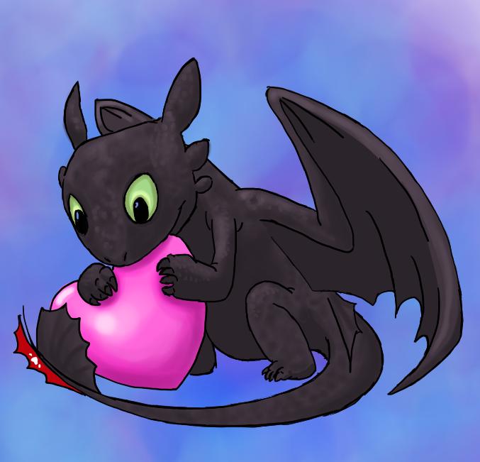 Toothless Valentine by FullmetalDevil