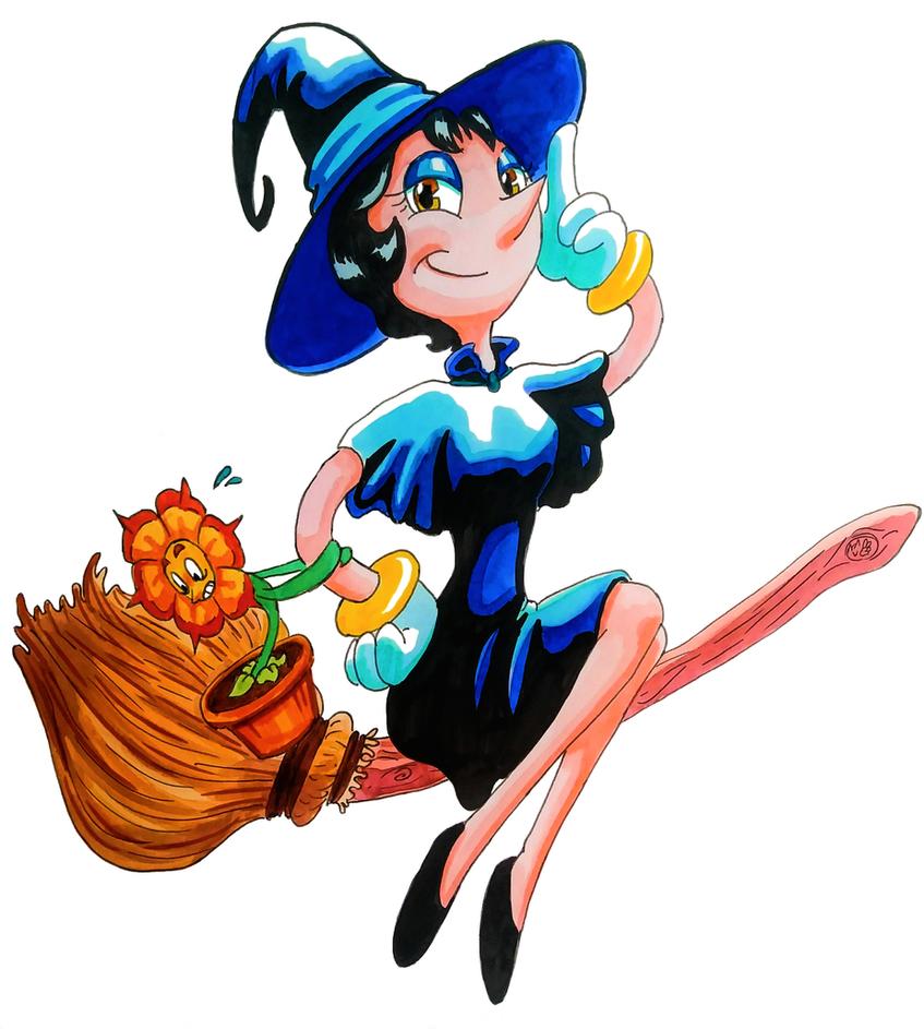 Halloween Hilda by FullmetalDevil