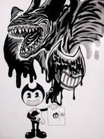 Bendy the Ink Demon (spoiler) by FullmetalDevil