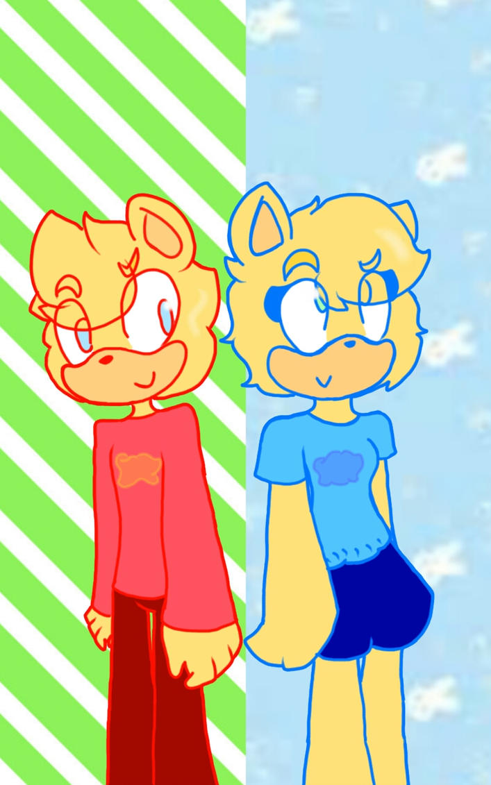 Goldy and Blondy the twin hedgehogs by knuckxadelover