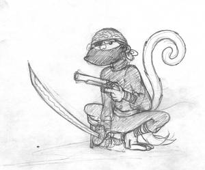 Ninja Monkey Pirate
