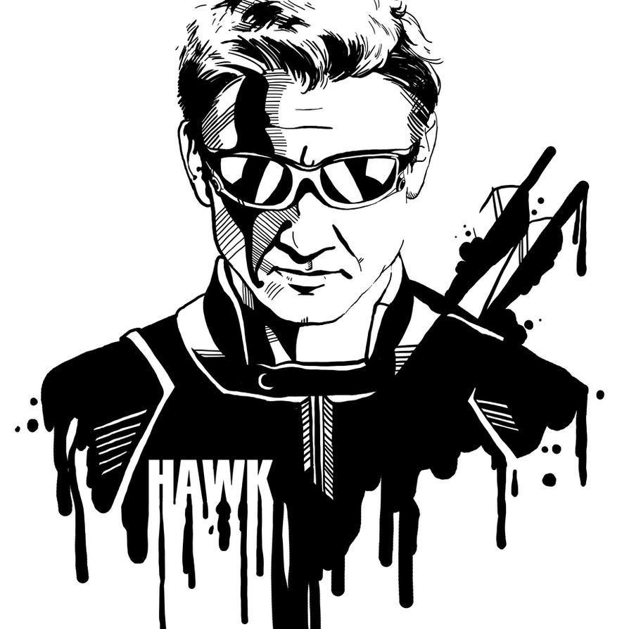 Avengers In Ink Hawkeye By Loominosity On DeviantArt