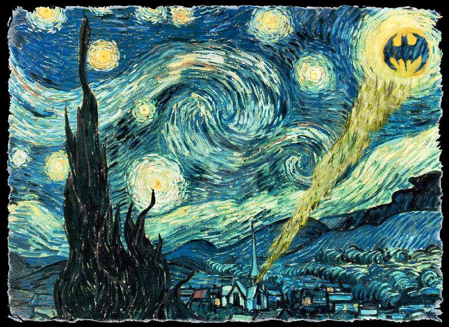 Gotham Starry Night by 1funnyguy