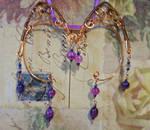 Purple and Copper Elven Ear Wraps