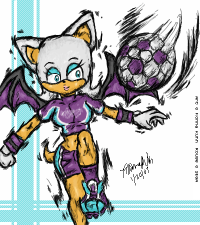 Mario strikers rouge by darkfreakoid on deviantart for Mario strikers coloring pages