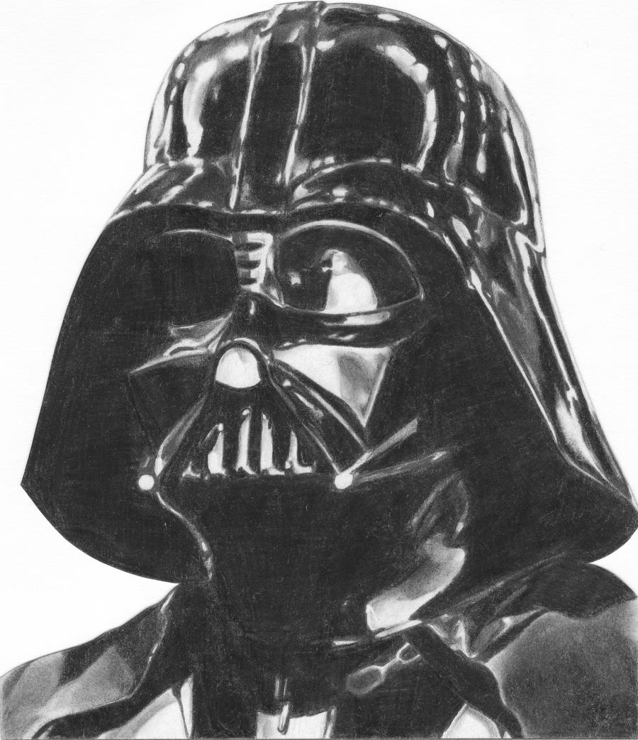 Darth Vader Mask Drawing Classic Darth Vader by...