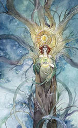 Queen of Pentacles by puimun