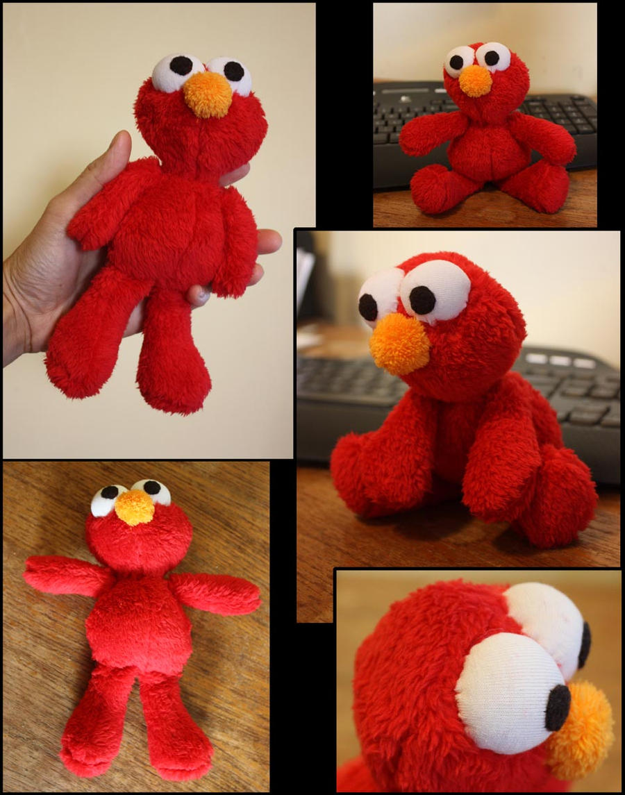 Elmo plushie by puimun on deviantart for Elmo arts and crafts