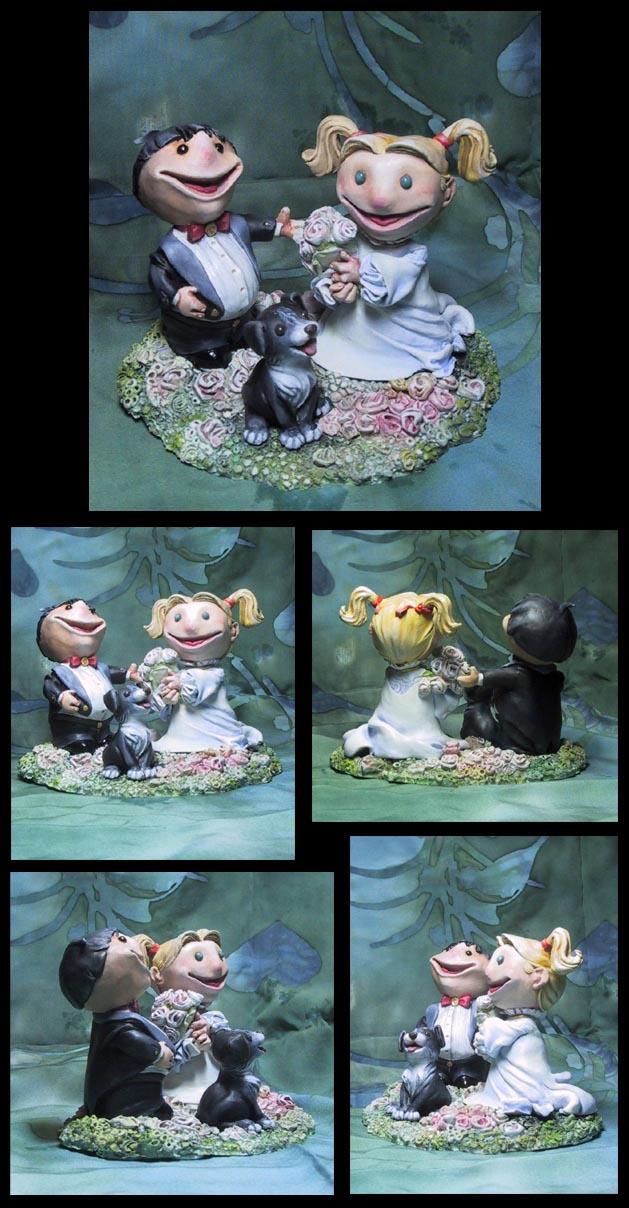 Tanja Cake Topper Artist : Wedding Cake Topper Sculpture by puimun on DeviantArt