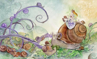 Snail Siesta by puimun