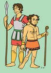 Ares and Hephaistos