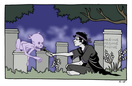 At the Cemetery