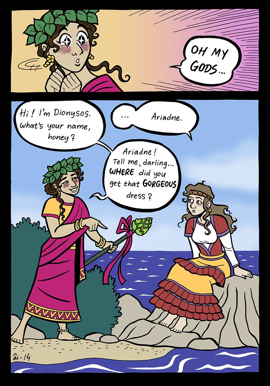Minoan Art Dionysos and Ariadne b...