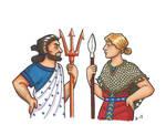 Athena and Poseidon