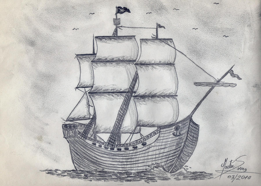 Pirate ship drawing - photo#10