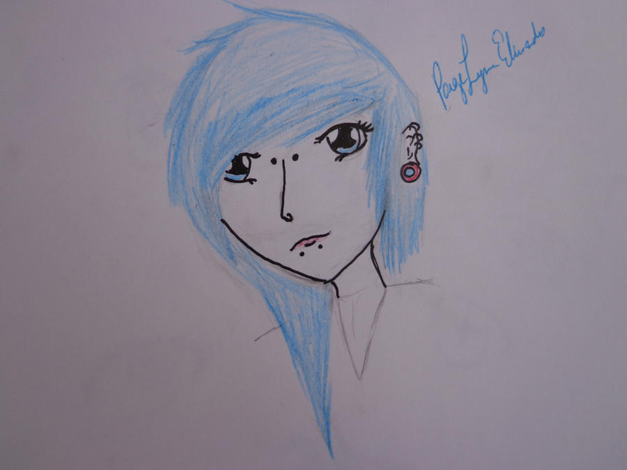 BLUE IS A AWESOME COLOR by paigelovesanime