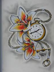 c8c294699 SaraEss 10 12 Pocketwatch n Lillies by Tin72